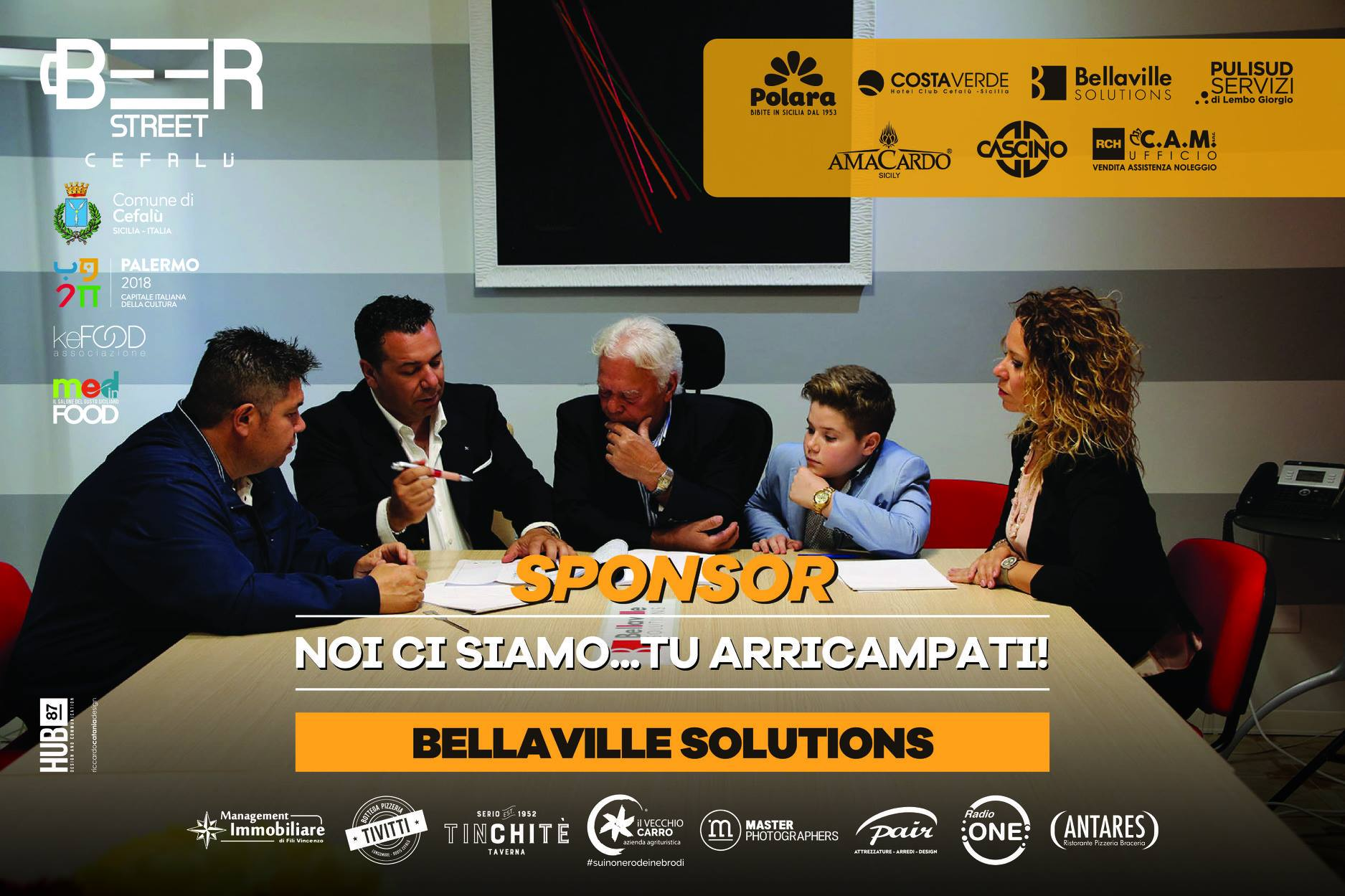Bellaville Solutions Sponsor ufficiale Beer Street Cefalù 2018